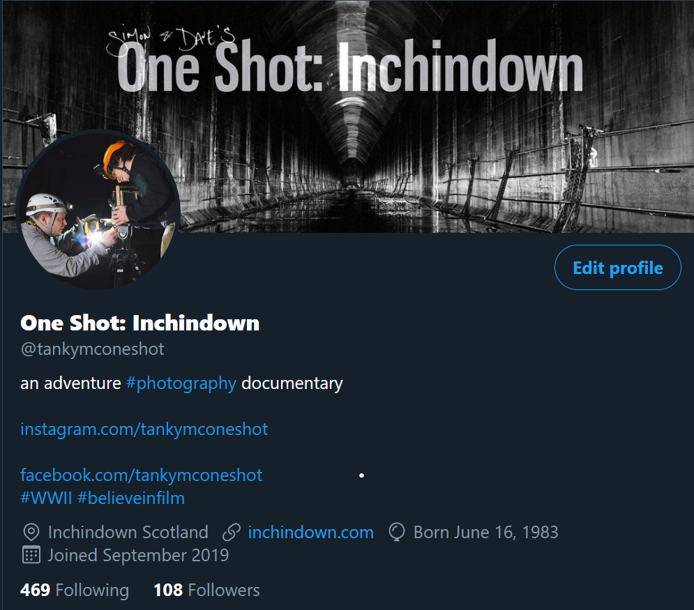 One Shot: Inchindown film on Twitter