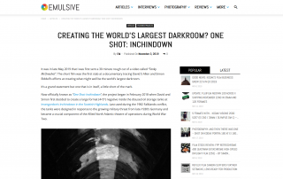 Creating the world's largest darkroom One Shot Inchindown — EMULSIVE