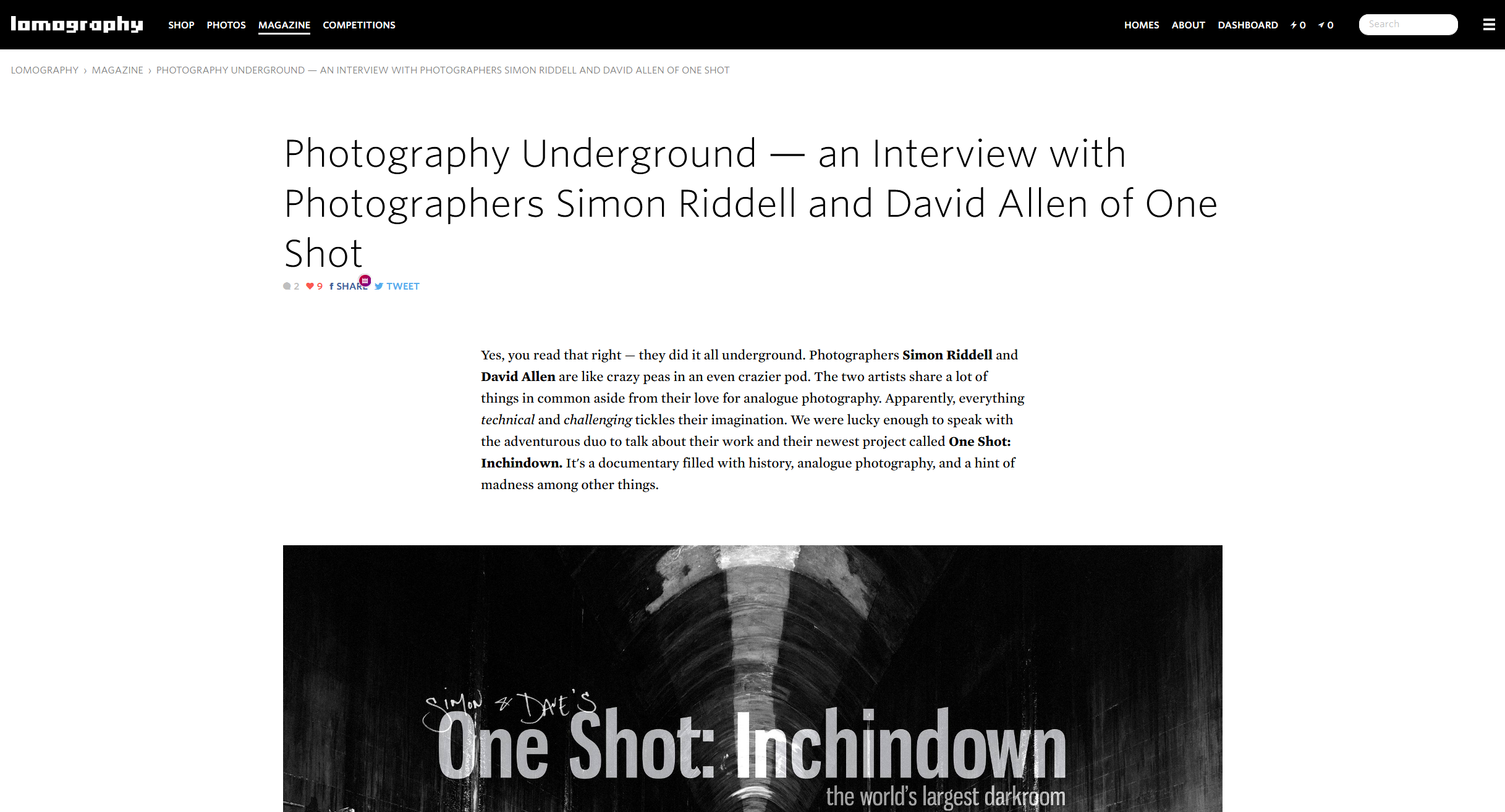 Lomography - Photography Underground — an Interview with Photographers Simon Riddell and David Allen